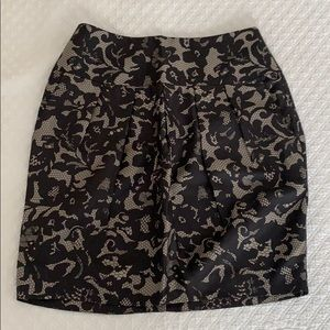Banana Republic silk skirt with lace floral print